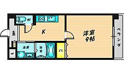 Cozy Court III 7階1Kの間取り