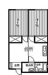 池田アパート[202号室]の間取り