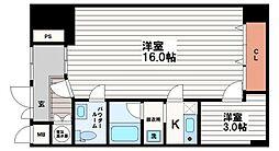 ユニ船場[2階]の間取り