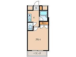 レジデンス六華[2階]の間取り
