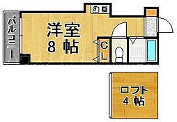 ヤマトビルII[2階]の間取り