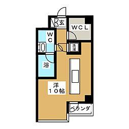 シャインコート岡南町[4階]の間取り