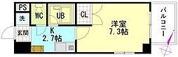 シャンテ中垣[4階]の間取り