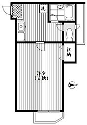 エコー東中野[202号室号室]の間取り