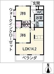 インペリアル浦里C棟[3階]の間取り