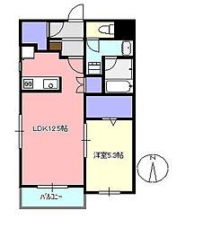 セレーノS[1階]の間取り
