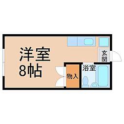 エステートピア草薙[2階]の間取り