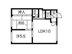 コート717[2階]の間取り
