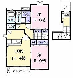 絆 (KIZUNA)[0203号室]の間取り