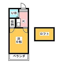 岩倉第3レジデンス[2階]の間取り