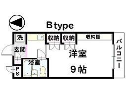 イーストガーデン金沢[401号室]の間取り