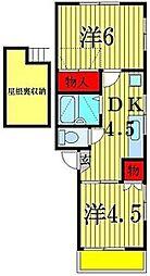 エールボヌール[2階]の間取り