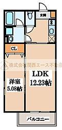 CRASTINE七道(クラスティーネシチドウ)[2階]の間取り