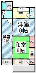 [テラスハウス] 長野県長野市大字鶴賀緑町 の賃貸【長野県 / 長野市】の間取り