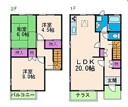 [テラスハウス] 大阪府箕面市桜ケ丘3丁目 の賃貸【/】の間取り