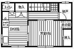 東京都江戸川区西瑞江4丁目の賃貸アパートの間取り