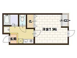 グランビア堀江[3階]の間取り
