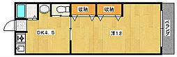 大阪府茨木市南春日丘1丁目の賃貸マンションの間取り