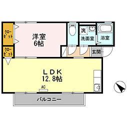 広島県広島市西区古江西町の賃貸アパートの間取り
