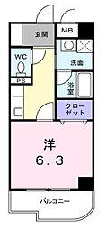 神奈川県横浜市港北区北新横浜2丁目の賃貸マンションの間取り