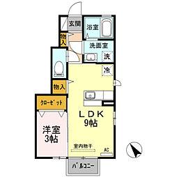 D−Roomルフィー[101号室]の間取り