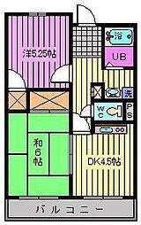 富田マンション[302号室]の間取り