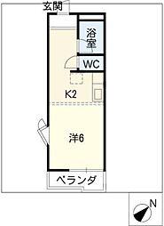 クリスタルガーデンエミナース[1階]の間取り
