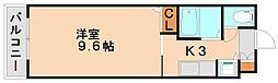 福岡県大野城市東大利1丁目の賃貸マンションの間取り