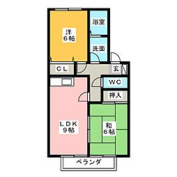 コンフォートM[2階]の間取り