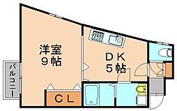 ビバイン平尾[4階]の間取り