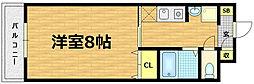 ラポール藤[4階]の間取り