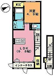 埼玉県上尾市大字上尾下の賃貸アパートの間取り