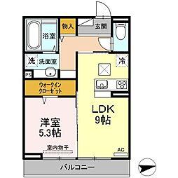 (仮)D-room西原駅前[203号室]の間取り