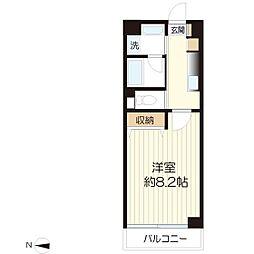 フォンターナ生田[6階]の間取り
