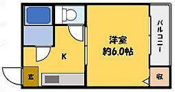 クイーン桜木[2階]の間取り