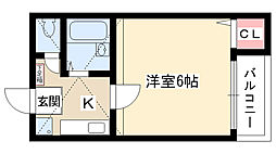 KOMハウス[202号室]の間取り