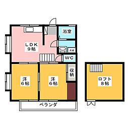 益子ハイツ[2階]の間取り