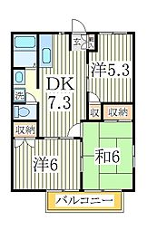 レジデンス名戸ケ谷[2階]の間取り