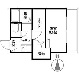 マリンコート新川[0203号室]の間取り
