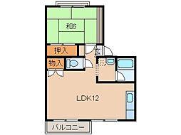 和歌山県和歌山市和歌浦東2丁目の賃貸アパートの間取り