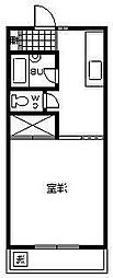 コーポアーバンスペース[105号室]の間取り
