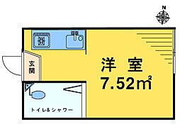 ライブコア中井[102号室]の間取り