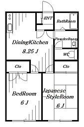 BSハイツ[2階]の間取り