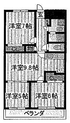 Sun Mount(サンマウント)[202号室]の間取り