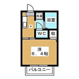 博友館[2階]の間取り