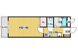 センターフィールドパート3[4階]の間取り