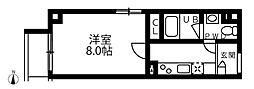 アリカ錦糸町プレッソ 5階1Kの間取り