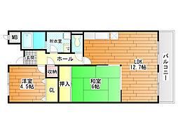 プライムヒル藤井寺[1階]の間取り
