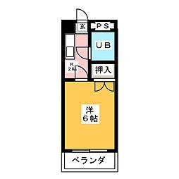 パールハイツ松原[3階]の間取り