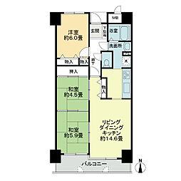 サーパス木太2[8階]の間取り